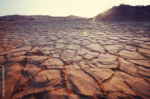 Drought land Wallpaper Mural