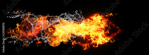 Fotografía  火と水が結合した矢印