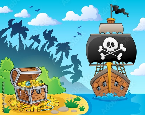 Image with pirate vessel theme 3