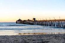 Sunset At Imperial Beach Pier,...