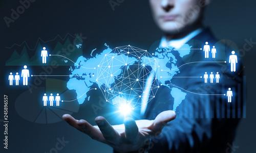 Obraz グローバルビジネス - fototapety do salonu