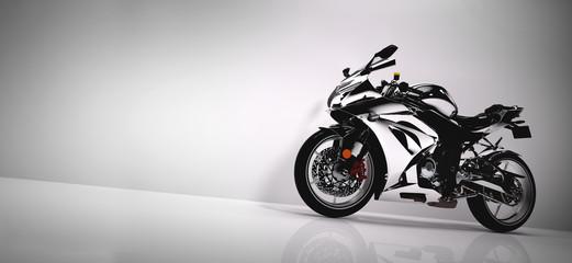 Sport motocykl na białym tle.