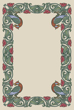 Floral Rectangular Frame With ...