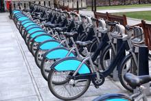 Bikes In London, England