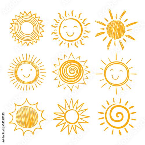 Fotografiet  Sketch sun icons