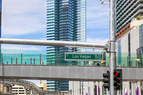 Canvas Prints Las Vegas Las Vegas BLVD 3700 street sign