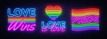 Big Set Neon Sign. LGBT Neon S...