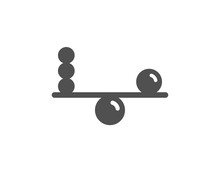 Balance Icon. Mind Stability Sign. Concentration Symbol. Quality Design Element. Classic Style Icon. Vector
