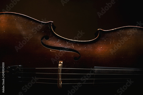 Fotomural Old Wooden Cello