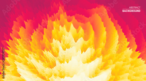 Foto  3D wavy background with ripple effect