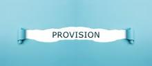 Provision Auf Gerissenen Papier