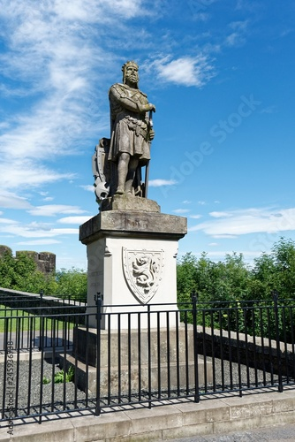 Poster Historisch mon. Schottland - Stirling - Robert the Bruce Statue