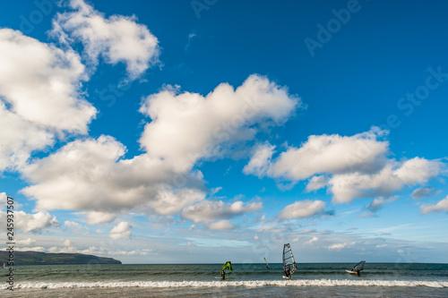 Wind surfing on the west coast of Ireland