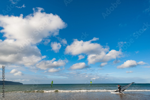 Wind surfing on the west coast of Ireland