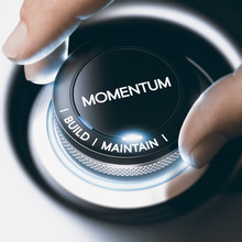 Business Or Sales Concept, Build And Maintain Momentum