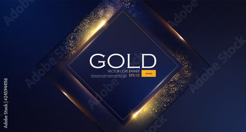 Foto  Abstract Overlapping Geometric Background with Gold Glitter Effect