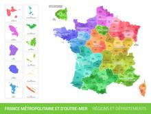 Carte Des Départements Et Des...