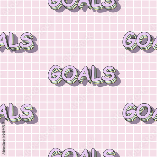 Fotobehang Retro sign cute goals seamless pattern