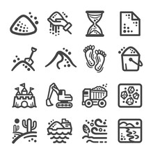 Sand Icon Set,vector And Illus...