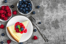 Slice Of New York Cheesecake W...