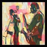 Jazz z saksofonem i kontrabasem - 245954770