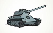 Tank. Vector Drawing