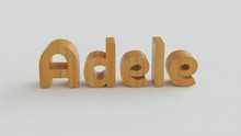 Adele Name In 3d Decorative Wi...