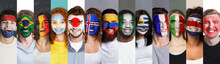 Sports Fan Support, Faceart Concept