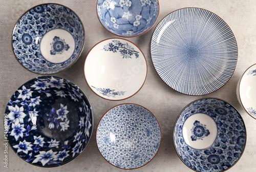 Japanese  Pottery - Bowls - Image .