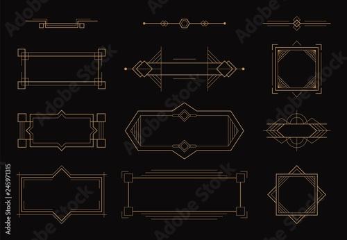 Fotografía  Art deco line border frame elements