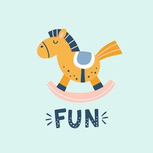Horse Toy Vector Illustration....