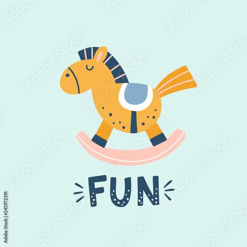 Valokuva Horse toy vector illustration