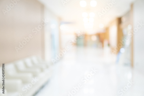 Abstract blur luxury hospital corridor Fototapet