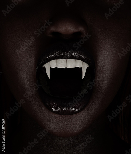 Vampire's woman,3d illustration Canvas