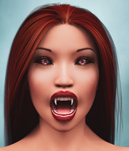 Vampire's Woman,3d Illustration