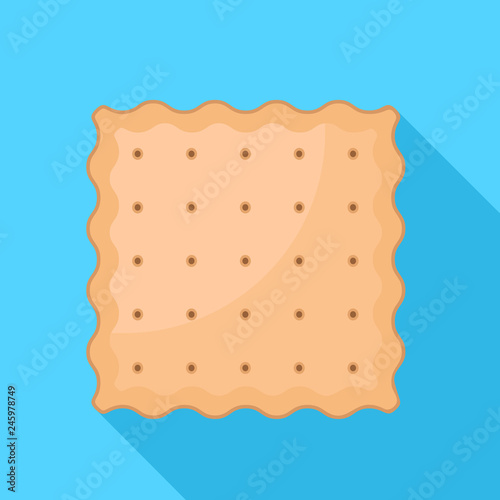 Square cracker biscuit icon Canvas Print