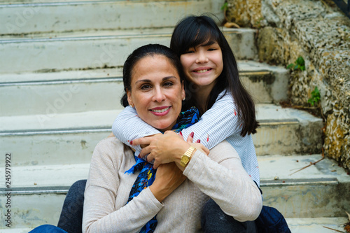Cuadros en Lienzo Loving Mother and Daughter Portrait