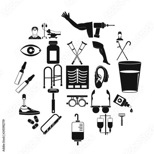 Fotografia, Obraz  Cripple icons set