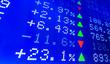 Leinwandbild Motiv Display of Stock market quotes