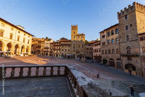 Arezzo, Piazza Grande Canvas Print