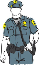 Policeman Vector Image Illustr...