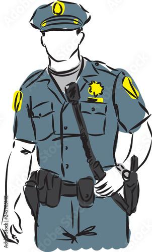 Photo policeman vector image illustration