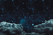 Leinwanddruck Bild - backgrounds night sky