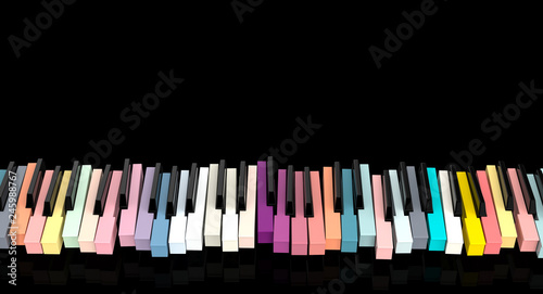 Fotografía  3d piano key board