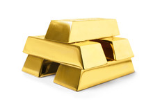 Stack Of Shining Gold Bars Iso...