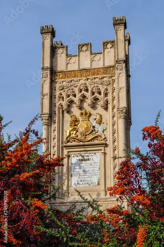 Poster Historisch mon. Königin Victoria Denkmal in Hochheim am Main