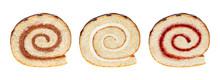 Sponge Cake Roll Slices Isolat...
