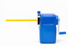 Blue Pencil Sharpener Isolated...