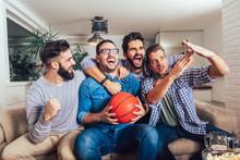 Happy Friends Or Basketball Fa...
