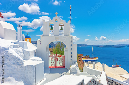 Obraz Architektura na wyspie Santorini, Grecja - fototapety do salonu